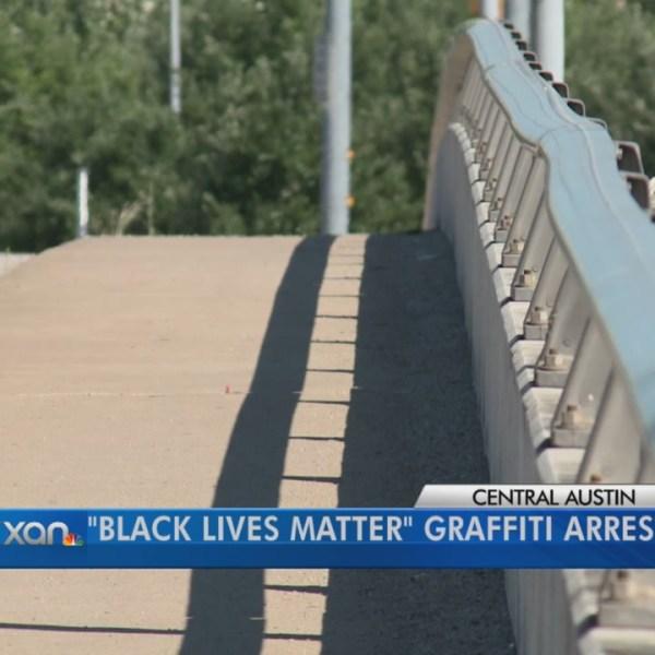 I-35 bridge 'BLACK LIVES MATTER' graffiti nets felony charge