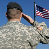 Soldier Salutes Flag_118871
