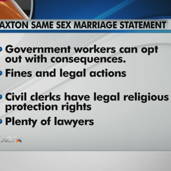 Paxton on same-sex marriage