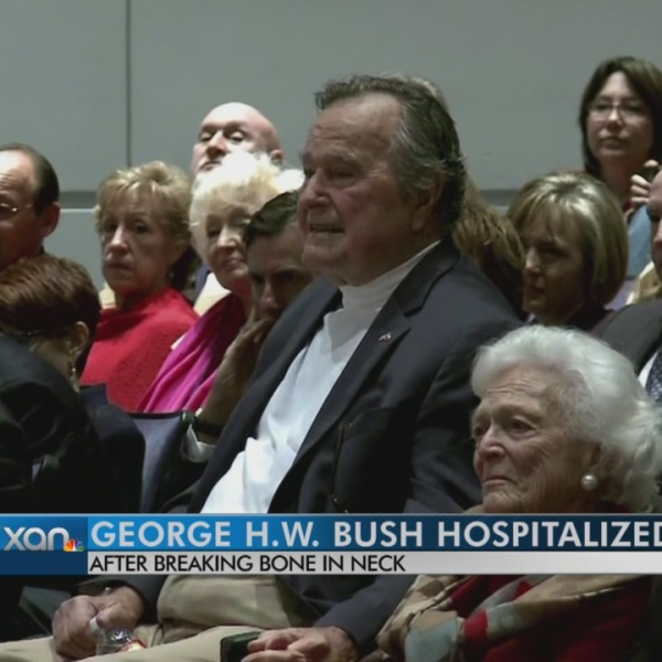 George H.W. Bush hospitalized