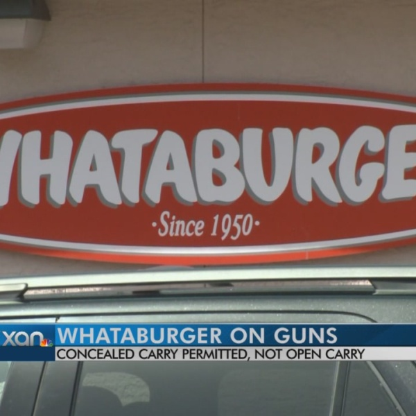 Whataburger will not allow open carry in its restaurants