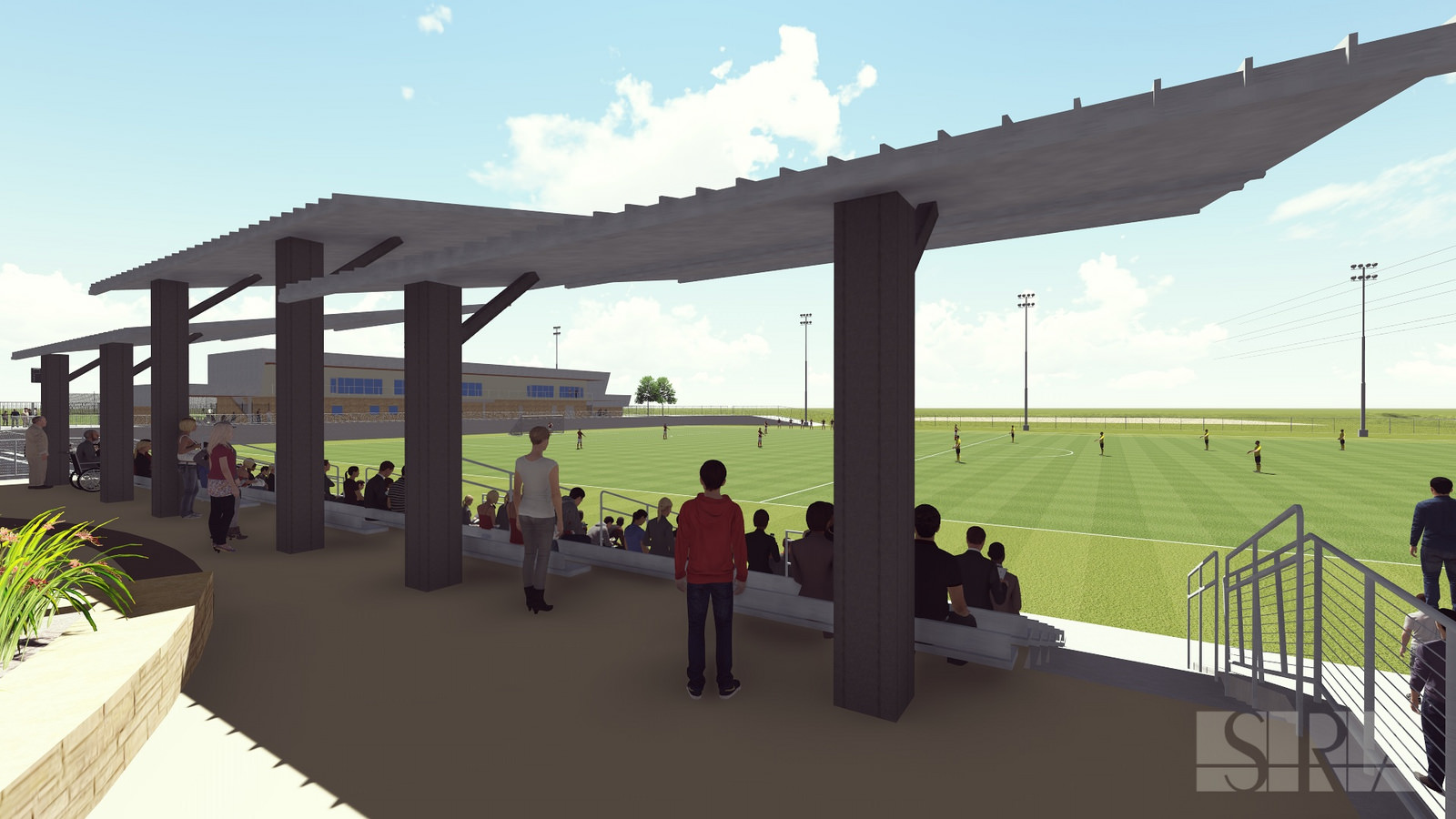 Rendering of Round Rock multipurpose soccer fields_228866