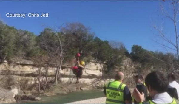 Man rescued after fall over Burnet cliff_227282