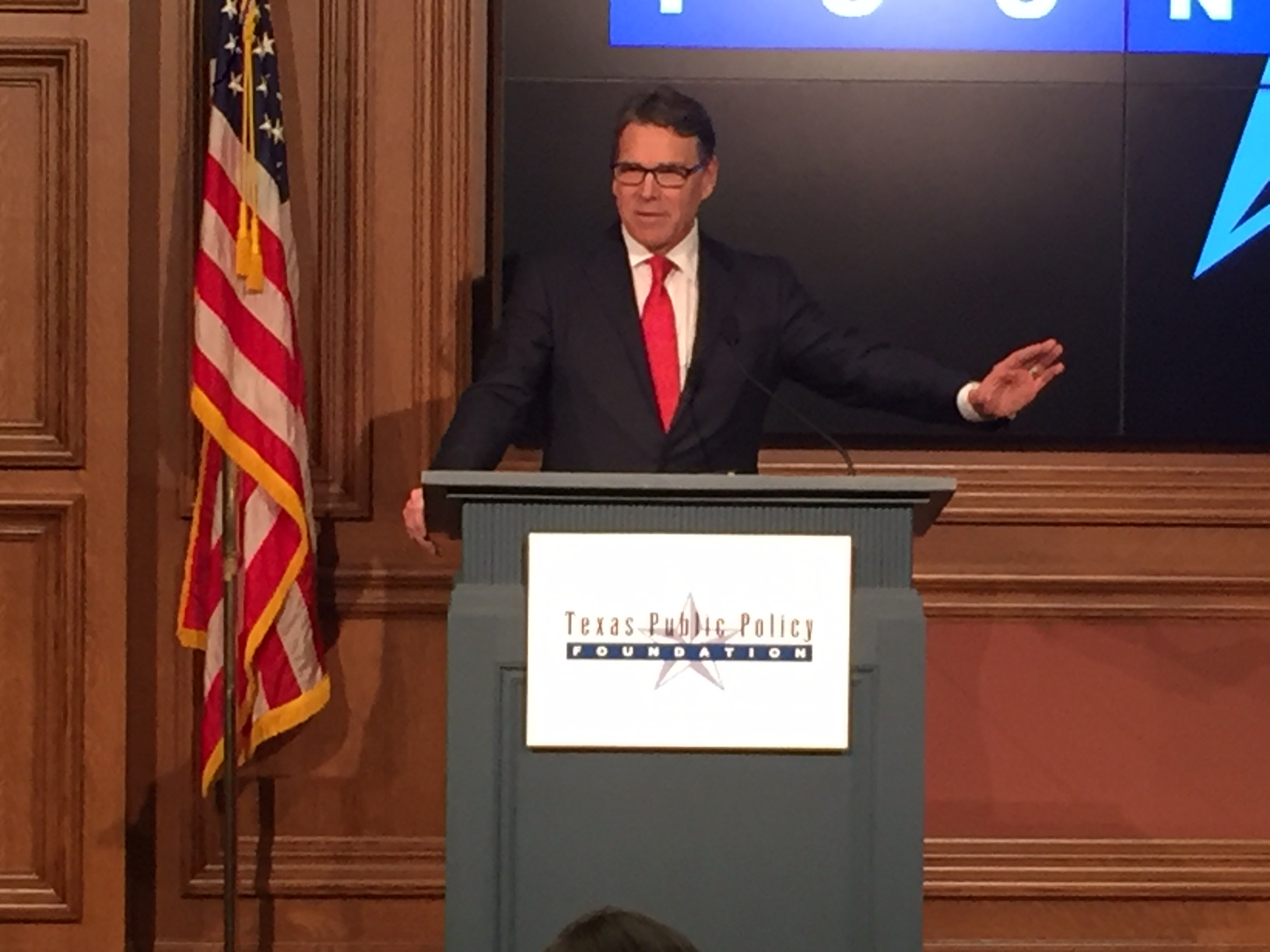 Rick Perry at Texas Public Policy