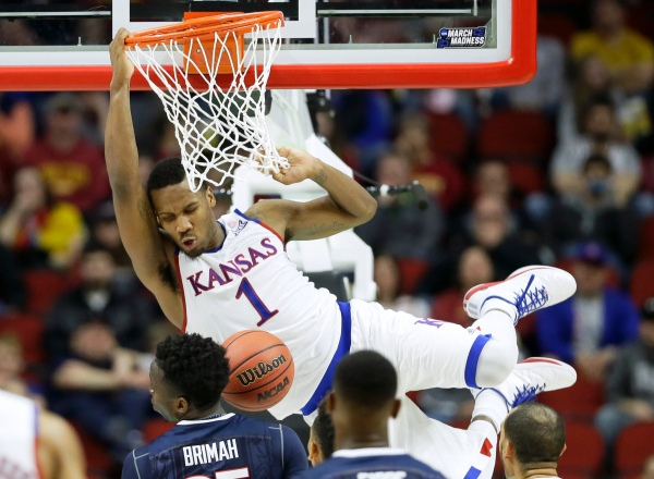 NCAA UConn Kansas Basketball_260575