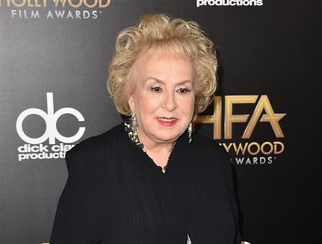 FILE - In this Nov. 1, 2015 file photo, Doris Roberts arrives at the Hollywood Film Awards in Beverly Hills, Calif. Family spokeswoman said Mon_273524