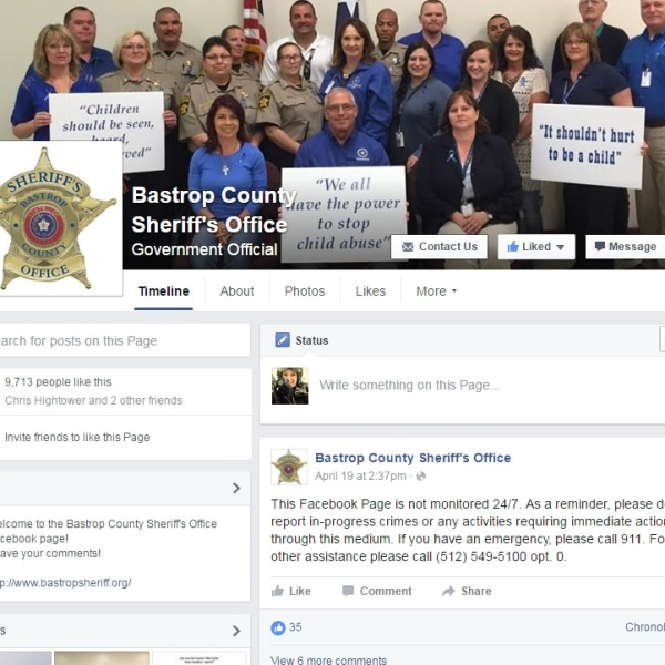 Bastrop County Sheriff's Office FB Page_275474