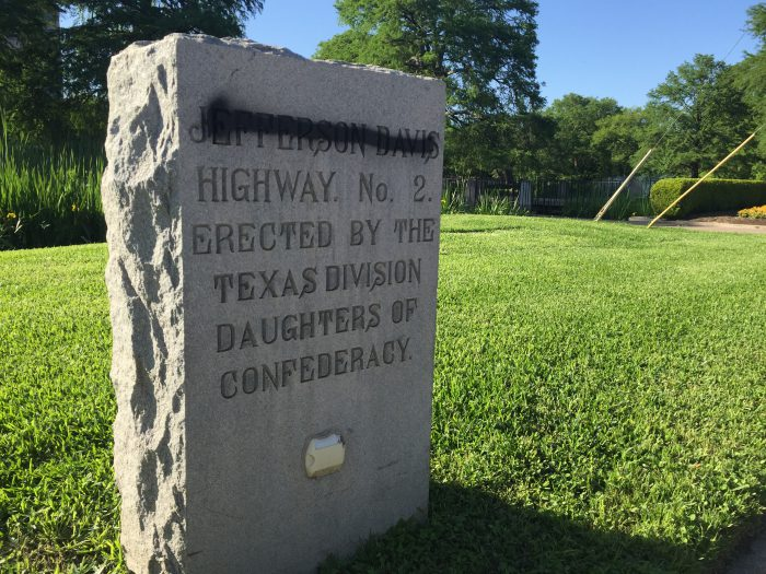 Historical marker at Texas State vandalized_277677