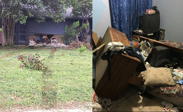 Stolen car crashed into house in South Austin_270196