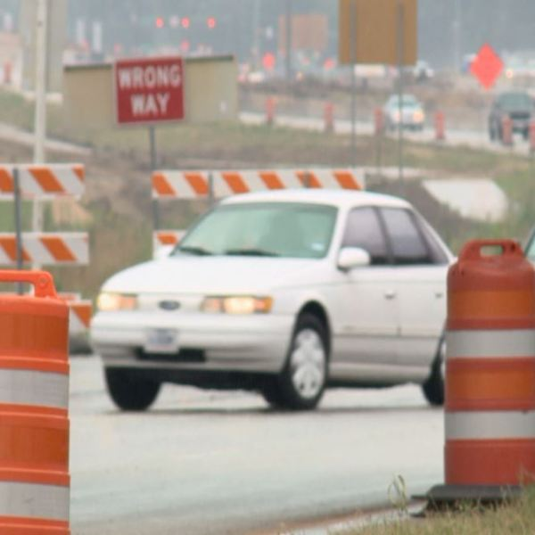 Cars navigate the detour at SH 71 and SH 130._285210