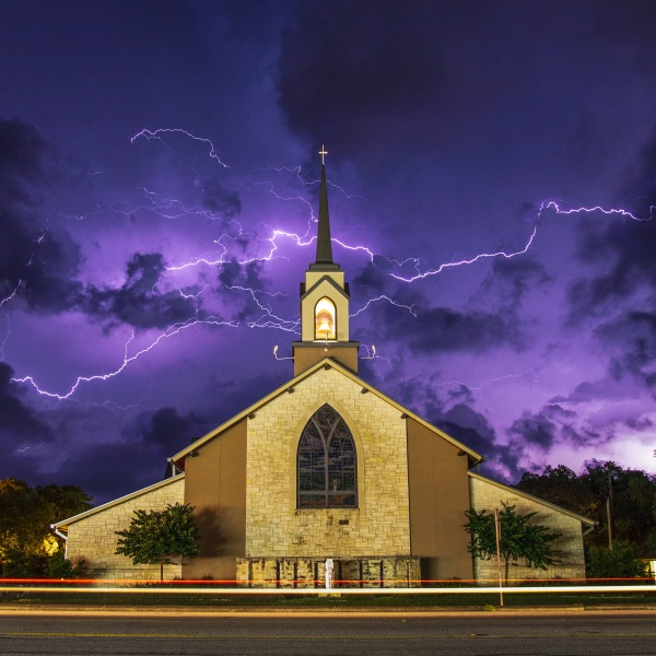 Lightning lights up the sky in Dripping Springs._291906