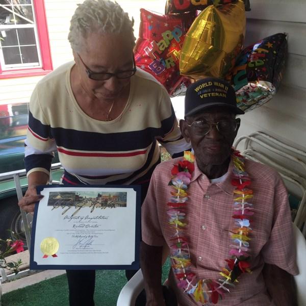 Richard Overton, America's oldest veteran, turned 110 on Wednesday, May 11_283939