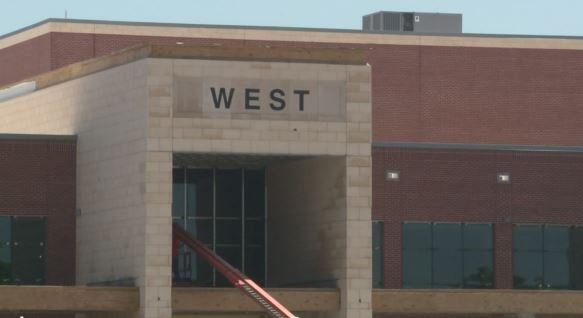The almost completed West High School_283905