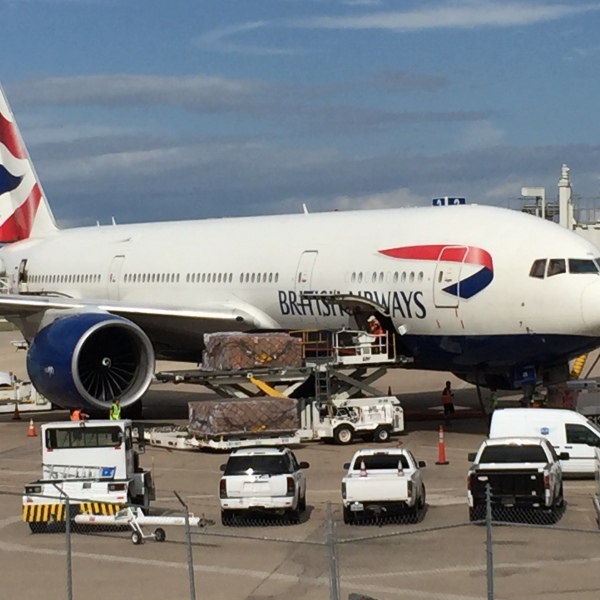 British Airways plane at ABIA_303983
