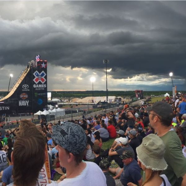 Circuit of the Americas (COTA) evacuated during the X Games due to approaching storm_294498