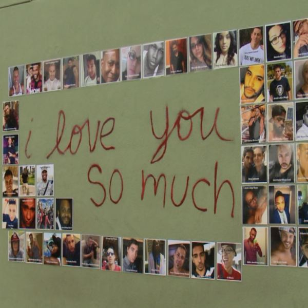The I love you so much wall turned into an Orlando tribute Saturday, June 25, 2016._304251