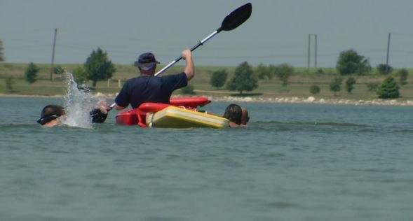 Pflugerville Fire Department practices water rescues on Lake Pflugerville_305552