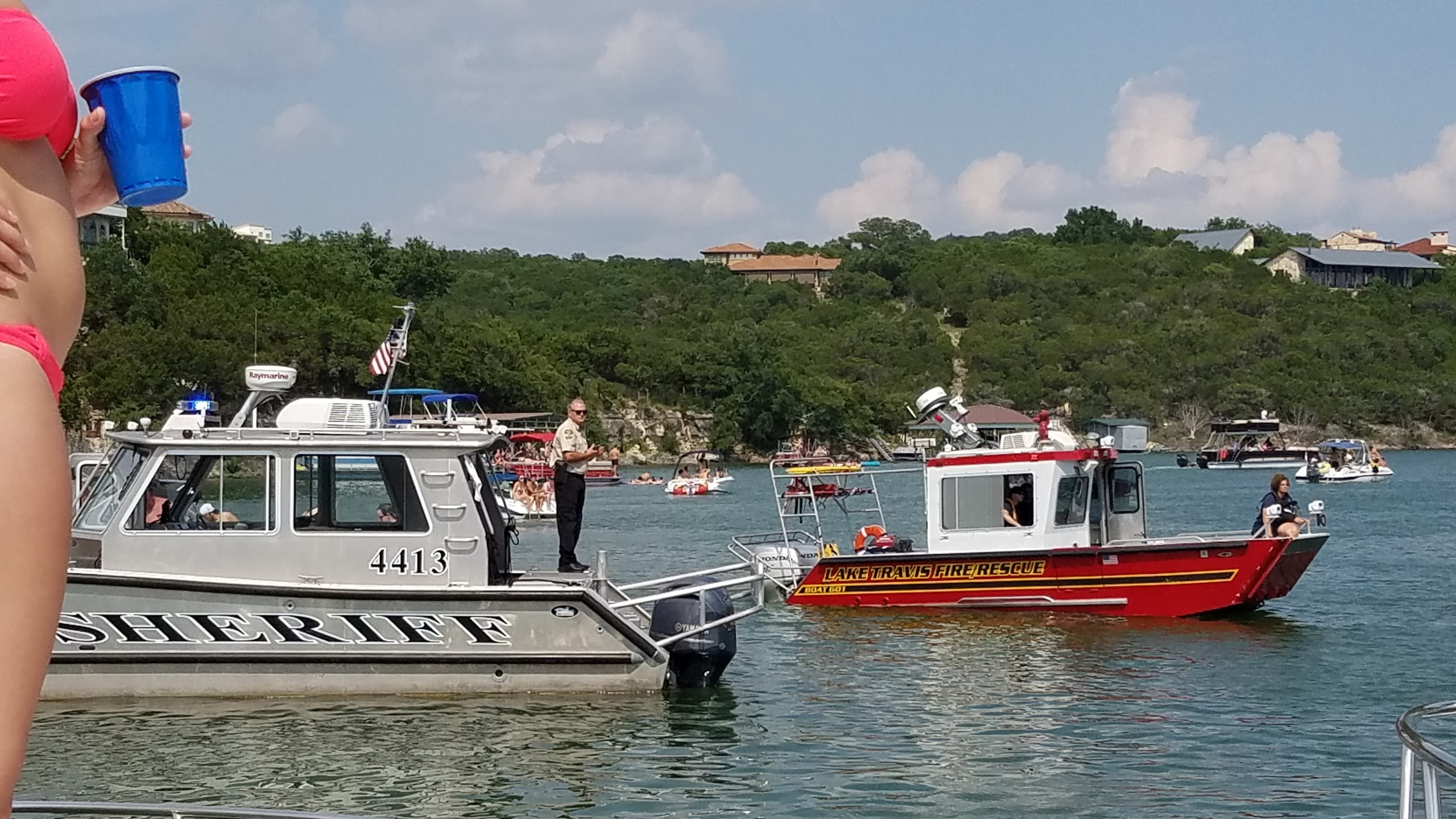 Rescue boats combed Lake Travis looking for a swimmer that went missing on Saturday, June 11._298162
