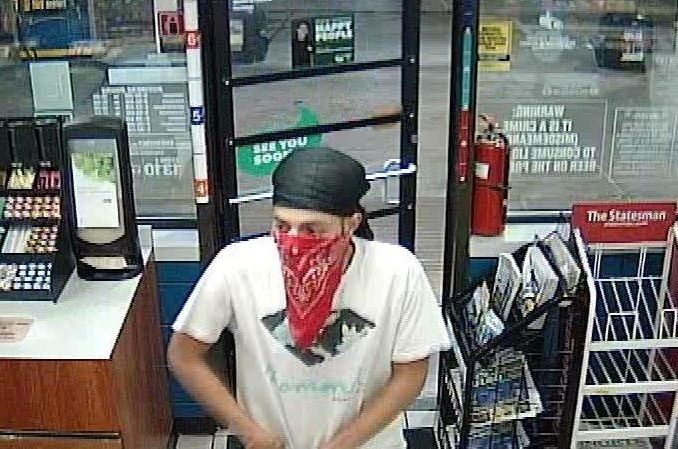 The suspect in the armed robbery of a Valero gas station on S. Mays Street in Round Rock on May 30, 2016_293249