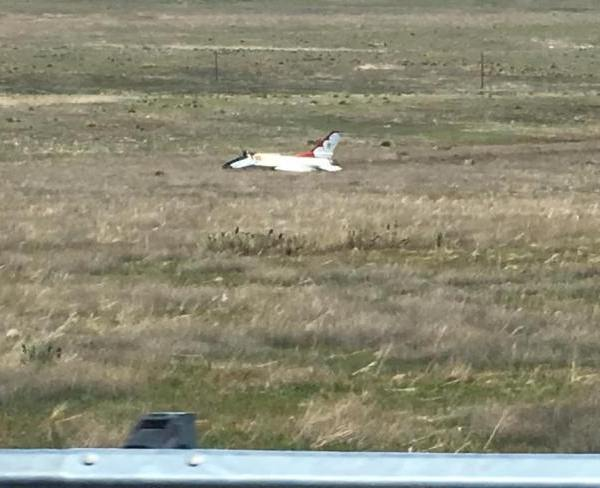 A Thunderbird went down in a grassy area in southern Colorado Springs Thursday afternoon. _ Ed Wrany_293801