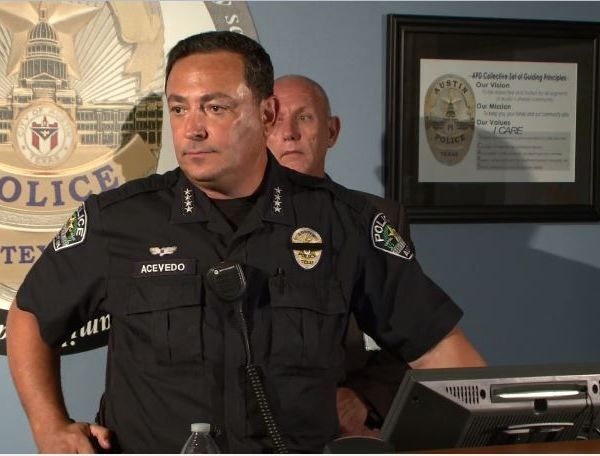 Austin Police Chief Art Acevedo at a press conference in response to the 2015 arrest of Breaion King, July 22, 2016_315703