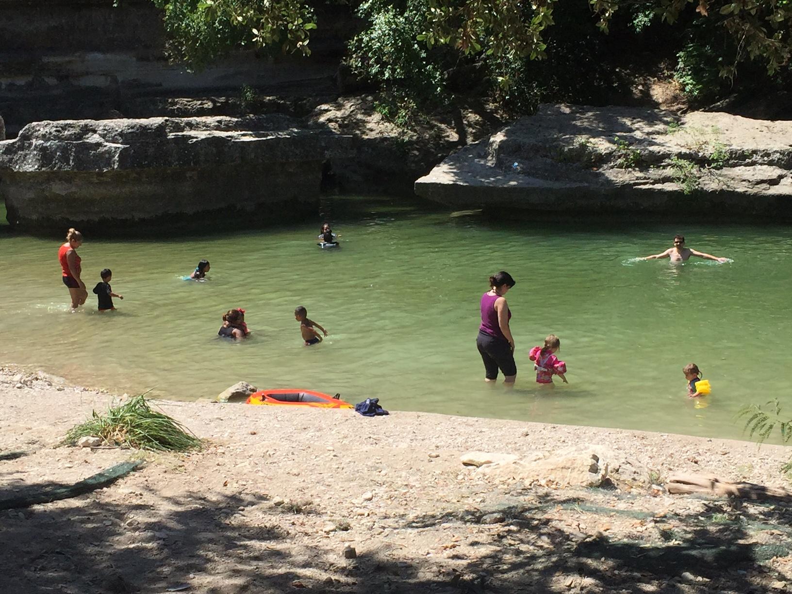 Swimmers in Bull Creek on July 25, 2016_316532