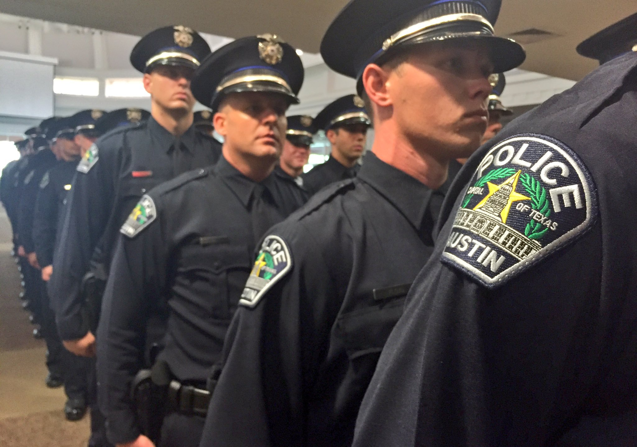 Austin police cadets at their graduation on July 8, 2016 (KXAN Photo_Alicia Inns)_309795