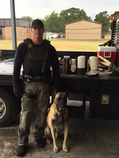 30 pounds of meth found hidden inside fire extinguishers during traffic stop in Fayette County (Courtesy: Fayette Co. Police)