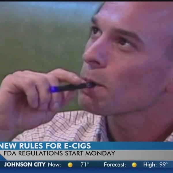 E-cigarettes face new nationwide regulations next week