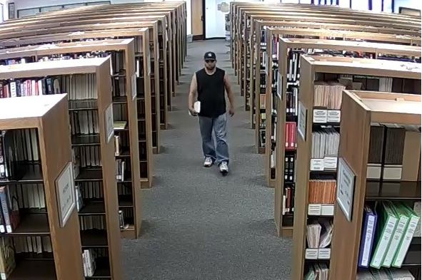 The man seen fondling himself on two occasions at a Round Rock library. (Round Rock Police Photo)_339516