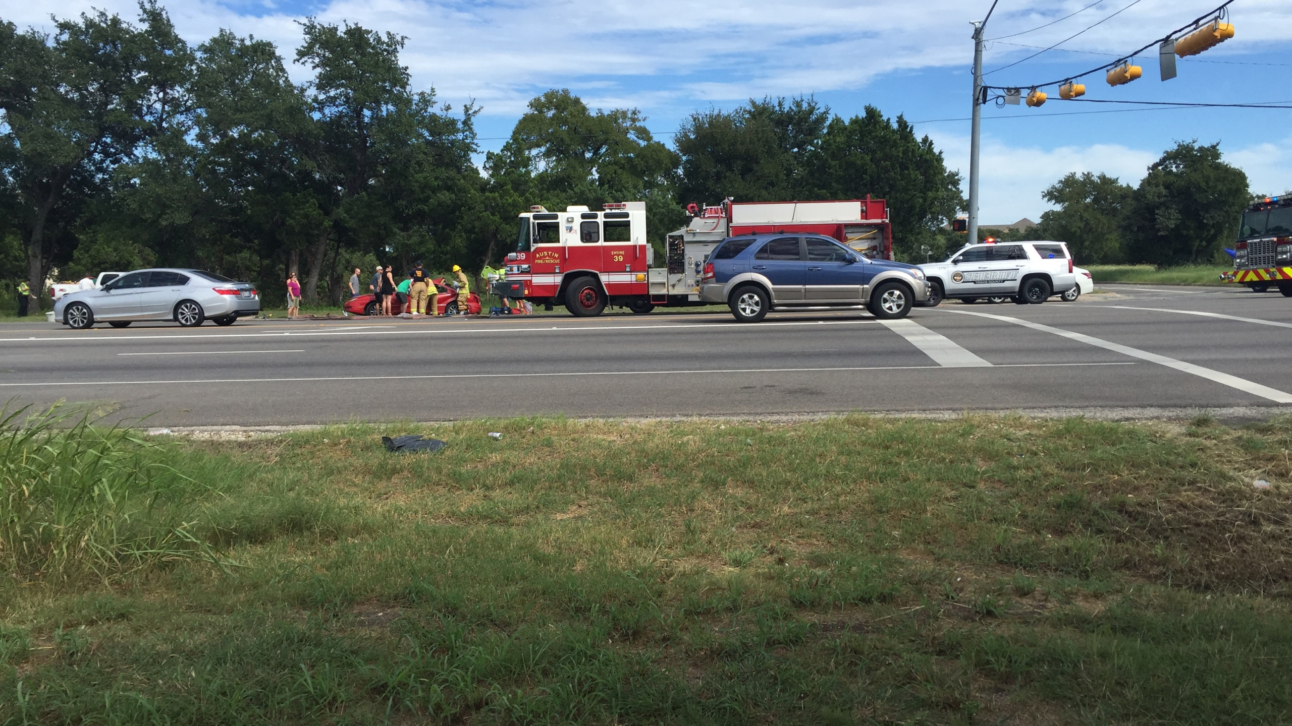 Northbound lanes of FM 620 were closed while police investigated a crash Saturday, September 10, 2016._346184