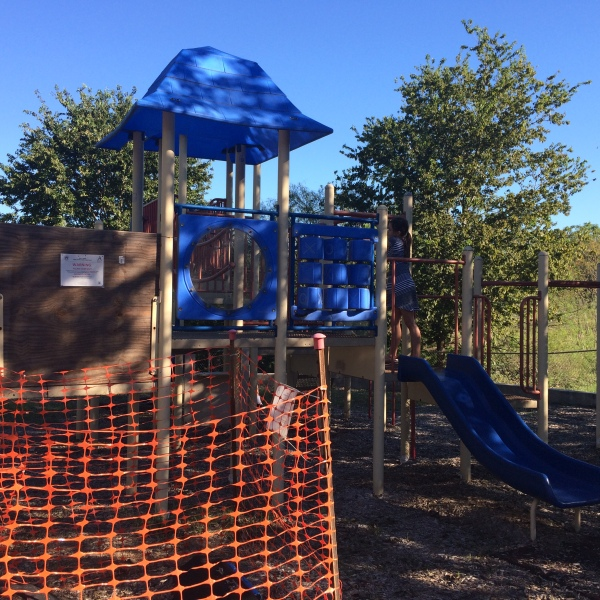 Playground equipment closed at Ellen Higgins Pocket Park_354347