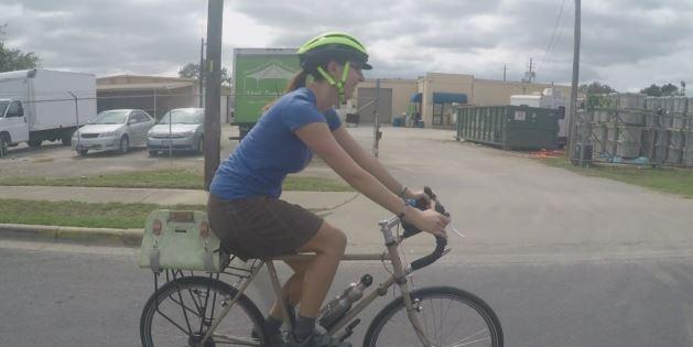 Lynn Haas has been an avid Austin cyclist for years._364476
