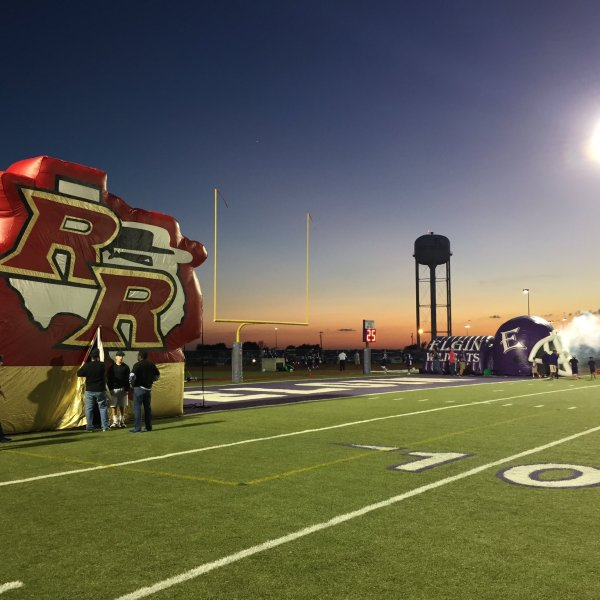 Elgin's Wildcat football Stadium where they face off against the Rouse Raiders (KXAN Photo_Todd Bailey)_367927