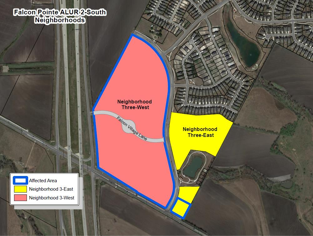 Pflugerville Planning and Zoning Commission - Falcon Pointe ALUR 2-South neighborhoods. (City of Pflugerville)