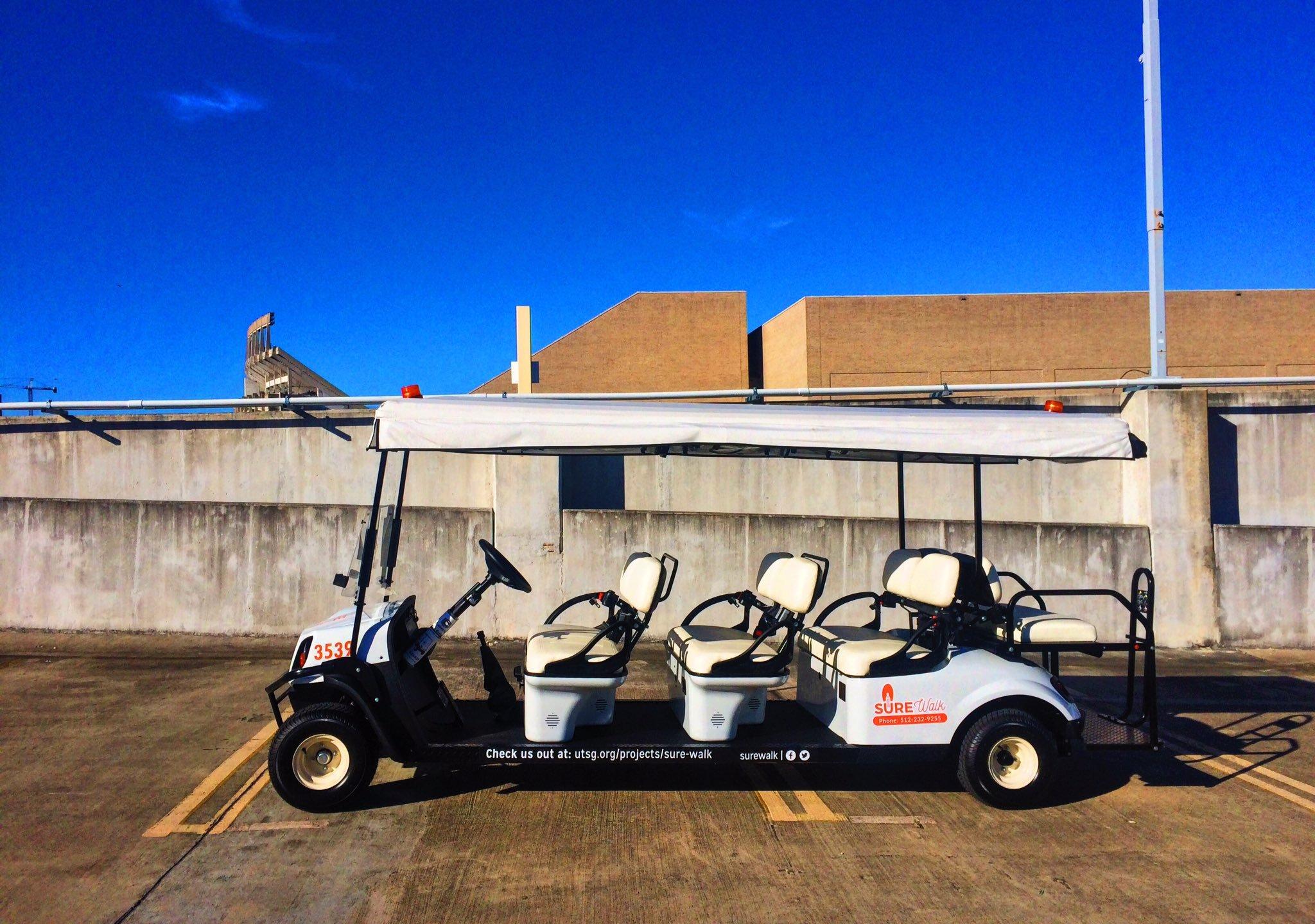 University of Texas SUREWalk gets a golf cart. Oct. 4, 2016_356909