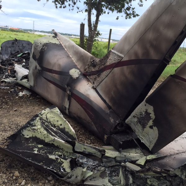 A plane crash in Taylor injured two people Saturday, October 1, 2016._355646