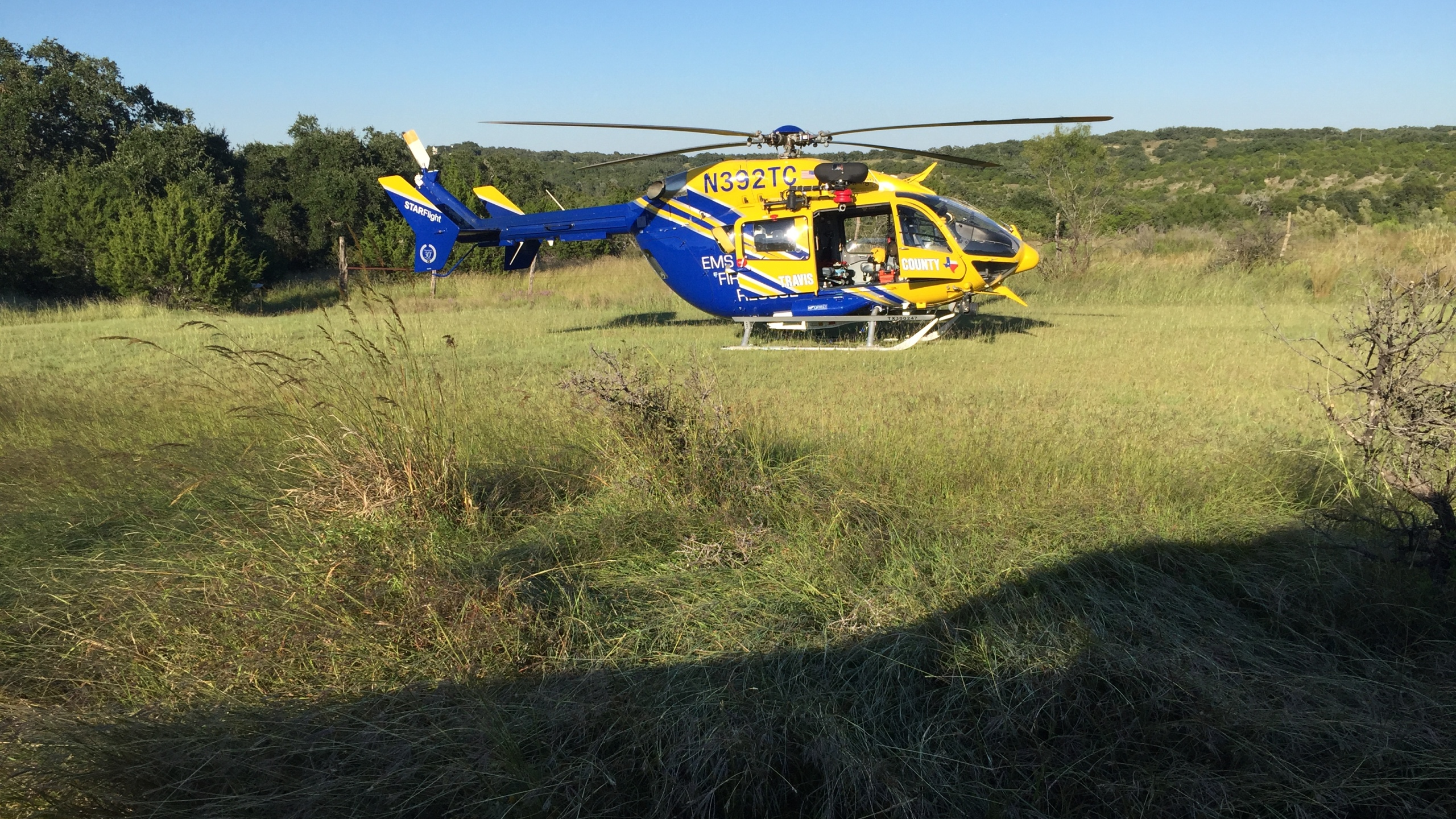 STAR Flight responded to reports of a missing swimmer at Hamilton Pool. (KXAN_Todd Bailey)_355893