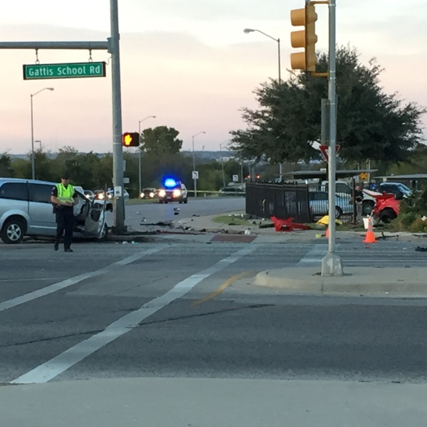 Two pedestrians were killed after racing cars caused rollover crash. (KXAN_Todd Bailey)_368140
