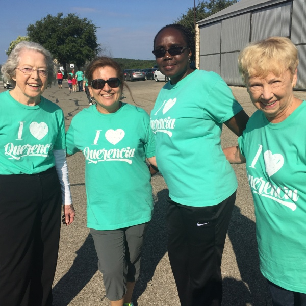 Walkers stop for a picture at the 25th annual Walk for Alzheimer's on Saturday, October 8, 2016._358845