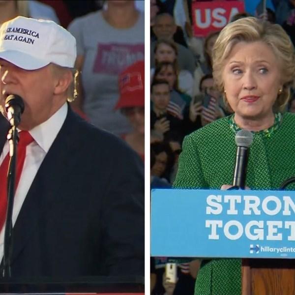 Donald Trump, left, and Hillary Clinton_366325