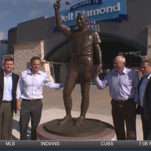 Nolan Ryan statue unveiled at Dell Diamond