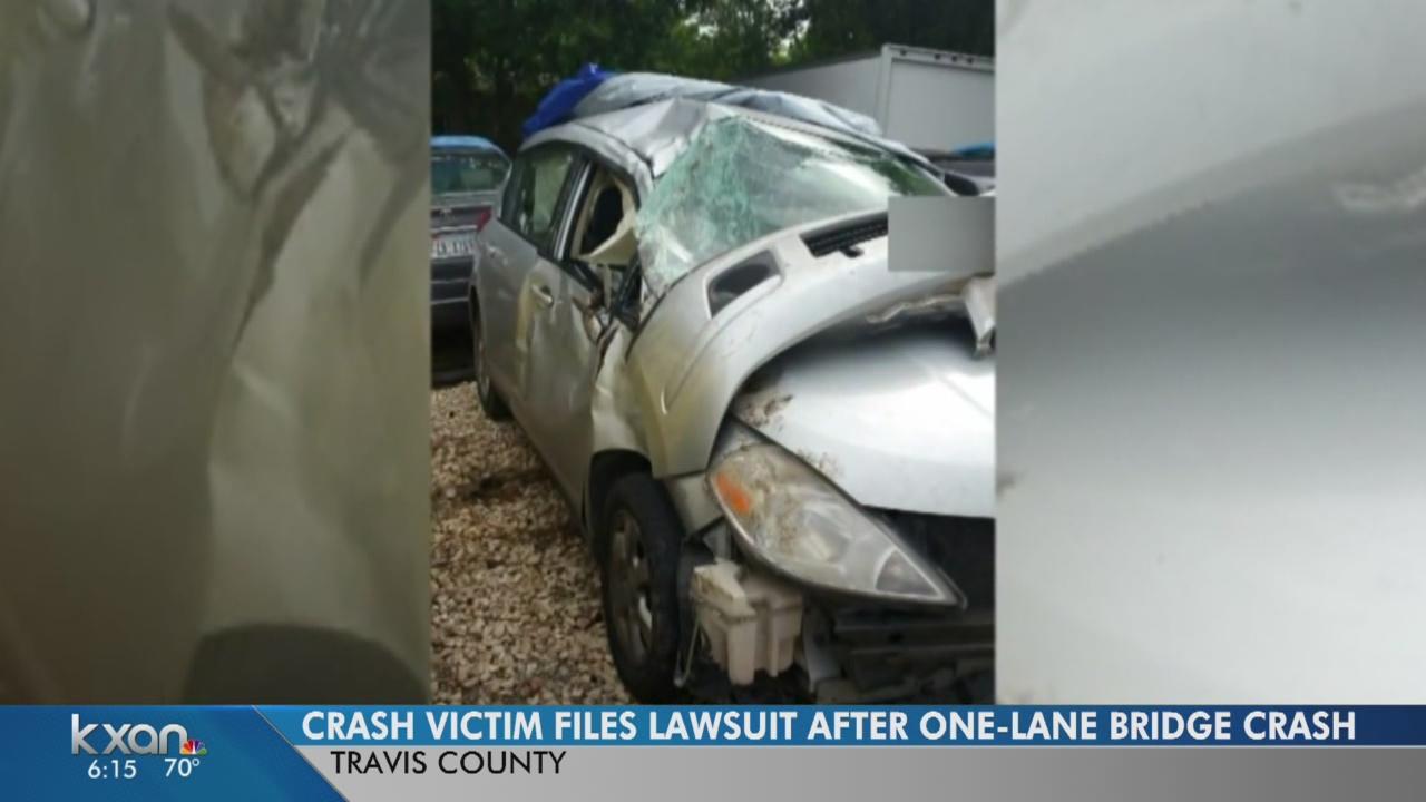 Crash victim files suit against Pflugerville over one-lane bridge