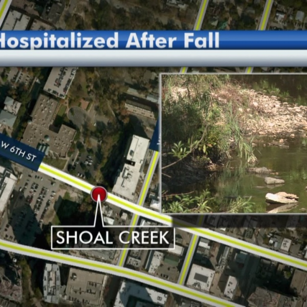 Man survives 12-foot fall near Shoal Creek
