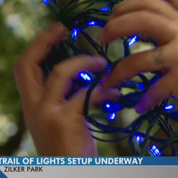 Preparations underway for the Austin Trail of Lights