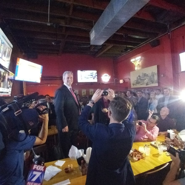 Mayor Steve Adler making a Prop 1 victory speech_372315