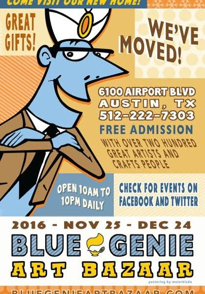 16th annual Blue Genie Art Bazaar moves to new location._379292
