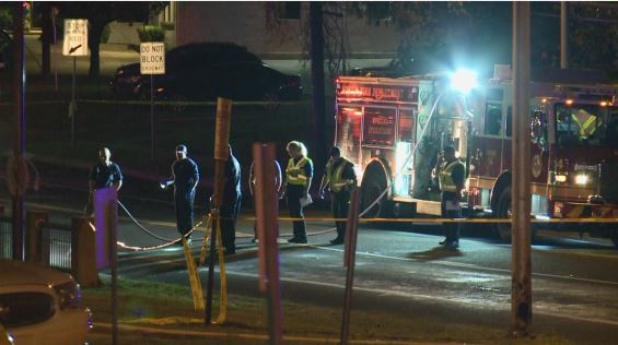 First responders at Manor Road and Anchor Lane where a man was killed while crossing the road_380709