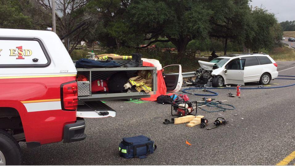 One killed, three injured in crash on FM 1431 near Vista Rock Drive. November 5, 2016 (ESD 1 photo)_371028