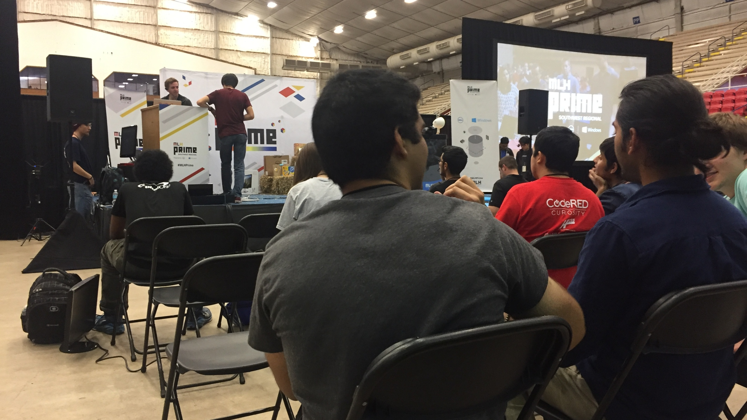 Over 400 students in the Southwest Region came together for a 24-hour Hackathon at the Travis County Expo Center. (KXAN_Todd Bailey)_374105